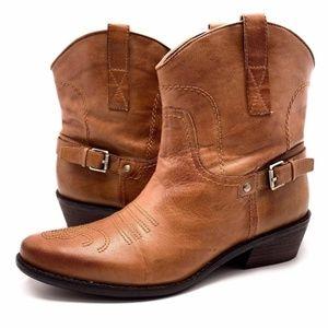 Franco Sarto Western Waco Ankle Boot Size 9.5